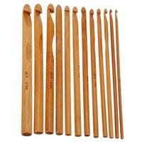 Wholesale 3 mm Sizes Sweater Needle Bamboo Crochet Hooks Knitting Needles Carbonized On Promotion Knit Tools