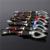Wholesale 2x Universal Bendable Motorcycle Waterproof LED Turn Signal Amber Light colors can choose
