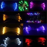 LED mini string lights - NEW M M M M M LED String Mini Fairy Lights Battery Operated White Warm White Blue Yellow Green Purple Pink Christmas Lighting