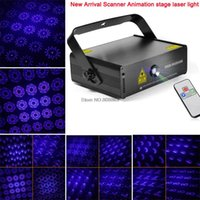 animations remote - new arrival Blue mw laser projector animation scanner Remote DMX DJ lighting Dance Show bar disco Party Stage Light Show
