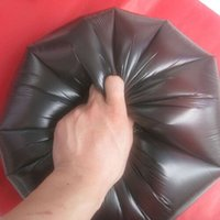 bag supplier china - Biodegradable Black Plastic Garbage Bag from Trustworthy China Supplier CM g pc Household Use Flat Trash Bag