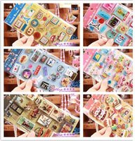 Wholesale PF78 Kawaii cute travel stamp design D Adhesive Stickers scrapbooking photo album notebook accessories sheets