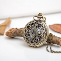 antique chestnut - 2016 hot Four water chestnut pocket watch necklace antique jewelry Sweater Necklace Best Christmas gift