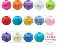 best cake mix - 100Pcs cm inch mix color round paper lantern wedding lantern festival decoration Best Selling in stock