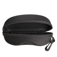 Wholesale Zipper Eye Glasses Sunglasses Hard Case Box Portable Protector Black Sunglasses Box