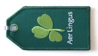 Fabric aer lingus - Aer Lingus Embroidered Luggage Tag to Your Own Customised Design per