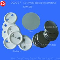 Wholesale quot mm Plastic Pin Badge Material Blank button parts Tin badge components