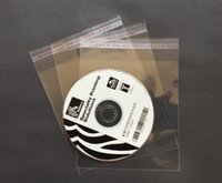 Wholesale Self Adhesive Seal Plastic Clear CD DVD Packing Packaging Bags Case Cover Holder