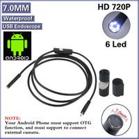 Wholesale 6 LED mm Lens P Android USB Endoscope m Length Waterproof Inspection Borescope Tube Camera
