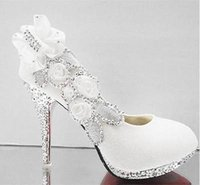 Red heels - 2016 Glitter Gorgeous Wedding Bridal Evening Party Crystal High Heels Women Shoes Sexy Woman Pumps Fashion Bridal Shoes White