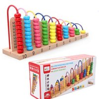 Wholesale 2016 new Kids Wooden Toys Child Abacus Counting Beads Maths Learning Educational Toy Math Counting Time