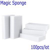Wholesale 100 Gray Magic Sponge Eraser Melamine Cleaner multi functional Cleaning x60x20mm Retial