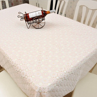 Wholesale Rectangle Dining Table Cover Cloth Knitted Vintage Knitting Hollow Out Banquet Kitchen Wedding Party