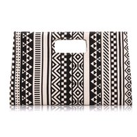 Wholesale 2015 Vintage Handbags Designer handbags for women Wallet Bags Black and white geometric pattern canvas bag message bag TZ