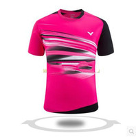 Wholesale Victor New Table Tennis t shirt Men Short Sleeve Length jersey Breathable quick dry Clothes
