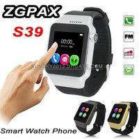 Wholesale ZGPAX S39 Smart Watch GSM Phone MP Camera TF SIM Card Bluetooth Wrist Smartwatch for Android IOS iPhone Samsung S6 Smartphone