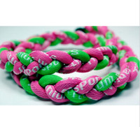 Wholesale 2015 best quality Rope Healthy Necklaces Titanium braid Twist Tornado baseball football unversity quot quot quot