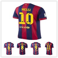 Wholesale 2014 Thai Quality Barcelona Messi home Away Jerseys blue Color Soccer Jerseys Football Jerseys