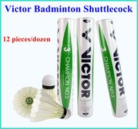 Wholesale TOP sales Victor CHAMPION NO Badminton Shuttlecock Genuine Guaranteed Shuttlecock High quality Game Balls pieces dozen