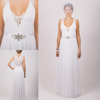 Cheap Sheath/Column Wedding dresses Best Reference Images V-Neck Bridal Dresses