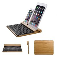 bamboo tablet wireless - Original Bamboo Bluetooth Wireless Multimedia Keyboard Stand for iPad Samsung Dell Lenovo Asus tablet iPhone Samsung HTC Phones