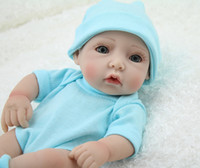 Cheap Unisex Reborn Baby Doll Best 3-4 Years Vinyl Newborn Babaies