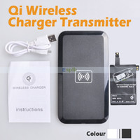 Wholesale Note Qi Wireless Charger Pad Charging Receiver Adapter For Samsung Galaxy Note With USB Cable