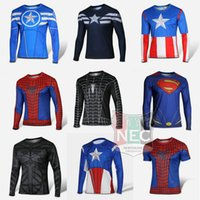 Shirts batman bike jersey - Men s Sports T shirt Super Hero bike jersey Batman Super Man Long Sleeve maillot Iron man captain A ciclo jersey T shirt cycling jersey
