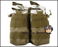 air war games - 7 Colors D Molle Tactical Military Airsoft Open Top Portable Outdoor Sports War Game M4 Double Magazine Pouch Bag Case Men order lt no t