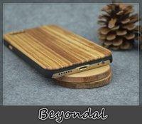 bamboo veneers - For Iphone Wood Phone Cases Zebra Wood Veneer Shockproof Solid Handcrafted Natural wooden Bamboo cover Radiating luxury Chrismas DIY Gift