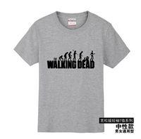 Wholesale Unisex Walking Dead T Shirts Men O Neck Breaking Bad T Shirt Cotton Man tshirt Euro Size Walking Dead Mens Tees Shirt Tops