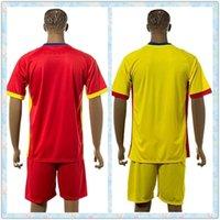 romania-soccer-jersey - Fast Uniforms Kit Romania European Patch Red Yellow Blank Jerseys New Soccer Jersey Full shirt