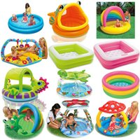 beach pond - New brand beach Inflatable infant swimming pool children s pool fishing pond sea pool bath pool air pump