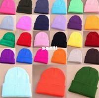 beany hats - Plain Beanie Knit Ski Cap Skull Hat Warm Solid Warm Cuff Blank Beany