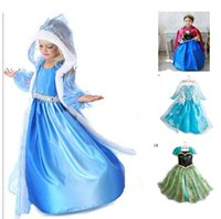 beautiful dress - 1PCS Hot Selling New Style Girls Frozen Dress Elsa Anna beautiful Dress Fashion princess Dress Children s Cloting