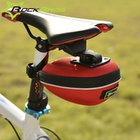 bicycle gear case - ROCKBROS Portable Road MTB Bike Bicycle Cycling Saddle Seat Bag Hardshell Waterproof Fixed Gear Fixie Tail Accessories Case