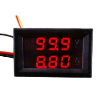 Wholesale DC V A Dual Red LED Digital Voltmeter Ammeter Panel Amp Volt Gauge