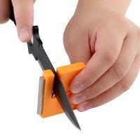 Wholesale TAIDEA Mini Portable Knife Hook Diamond Knife Sharpener Outdoor Sharpening Tool