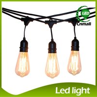 ac rubbers - Vintage Edision Outdoor Commercial String Lights with Nostalgic Edison Bulbs Feet String Light with Heavy Duty Molded Rubber Light