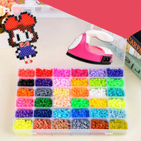 Wholesale High quality most popular children s educational toys and gifts DIY mm HAMA spell beans doug color box Around grains per color total