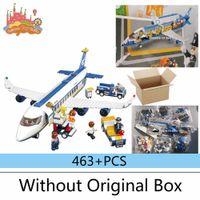 airbus model airplanes - New Original Sluban B0366 Blue Airbus Airplane Model Building Blocks set DIY Educational bricks toy Compatible With legoe