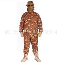 Wholesale LOOGU Colors Military Camouflage Uniform Ghillie Suit Snow White Hunting Clothing Desert Camo Suit Woodland Ghillie Suit