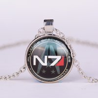 antiques mass - European and American fashion vintage inspired pendant Mass Effect N7 antique glass pendant gem necklace time