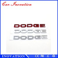 american cars dodge - American Dodge Car Styling Logo Badge Silver Red ABS DODGE M Sticker Car Accessories Emblem