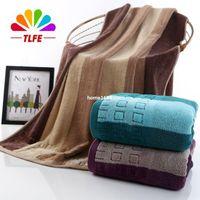 cotton fabric roll - new High quality g CM Cotton Bath Towel Fabric Solid Beach Towels for adults Bathroom Towels set brand TLFE FB42