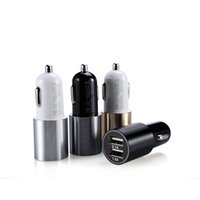 Cheap Pd-001 Bullet Aluminum Alloy Cover Dual USB Port Car Charger 2.1A 1A for iPhone iPad iPod   Samsung Galaxy