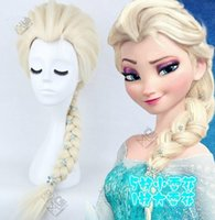 Wholesale Brand New Frozen Snow Wig Anna Elsa Wig flowers Long Braid Cosplay Anime Wig ponytail Classic Halloween Hair