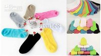 Cheap Free Shipping Cute Candy Colored Cotton Socks Ship Socks Solid Floor Socks 10 Pairs