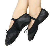 Wholesale Genuine leather Net surface ballet dance shoes for girls women ballet shoes