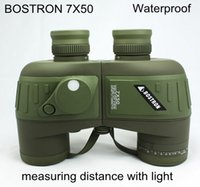 Waterproof opera binoculars - 7X50 High quality Hd wide angle Portable LLL Night Vision waterproof Binoculars telescope not infrared can measure the distance
